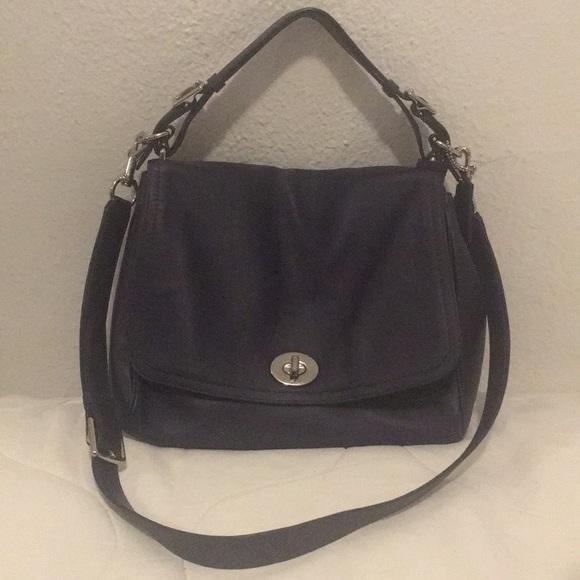 d565d2ddc0e Coach Bags   Dark Purple Tophandle Crossbody Bag   Poshmark